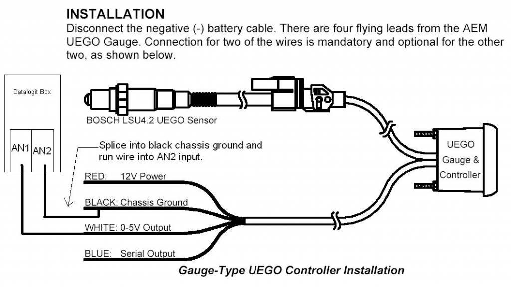 Aem Wideband Wiring Diagram: AEM UEGO Installation Instructions 30-4100 - KTeller,Design