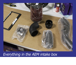 Everything in the AEM intake box